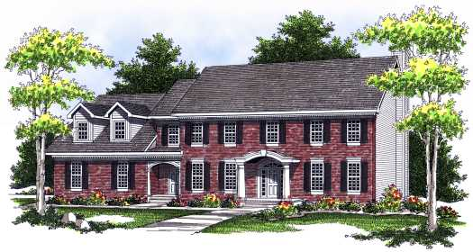 Early-american Style Floor Plans Plan: 7-518