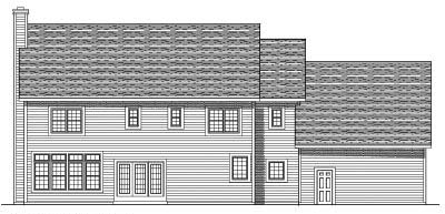 Rear Elevation Plan: 7-518