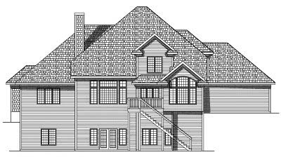 Rear Elevation Plan: 7-519