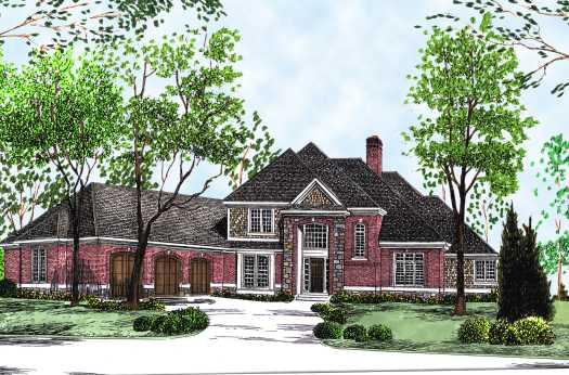 European Style House Plans Plan: 7-520