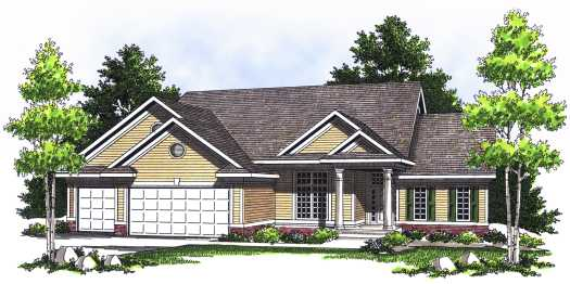 Traditional Style Floor Plans 7-522