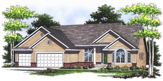 Traditional Style Home Design Plan: 7-523