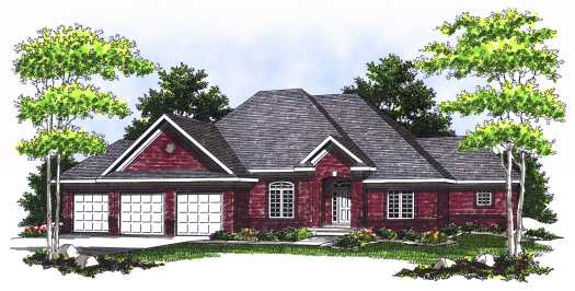 Traditional Style Home Design Plan: 7-525