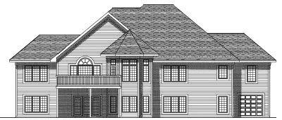 Rear Elevation Plan: 7-525