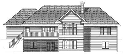 Rear Elevation Plan: 7-526