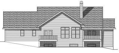 Rear Elevation Plan: 7-527