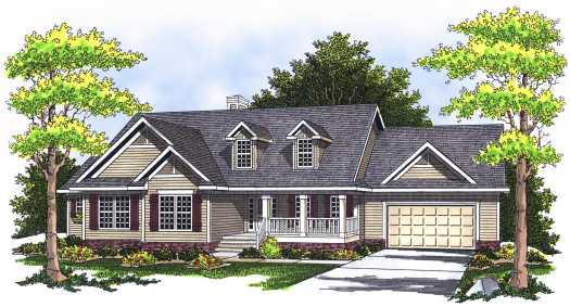 Country Style House Plans Plan: 7-528