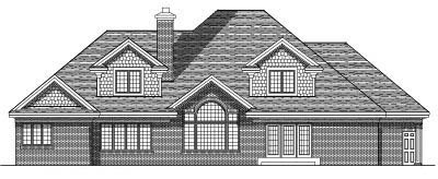 Rear Elevations Plan:7-529