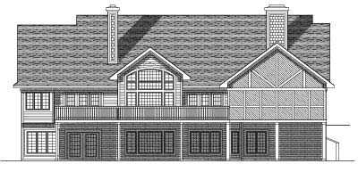 Rear Elevation Plan: 7-531
