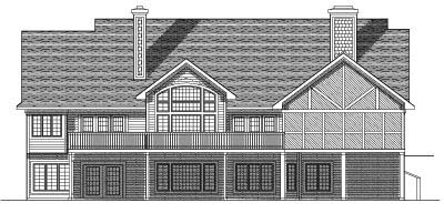 Rear Elevation Plan: 7-532