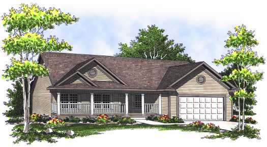 Country Style House Plans Plan: 7-535