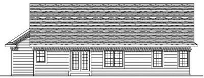 Rear Elevation Plan: 7-535
