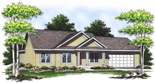 Traditional Style Home Design Plan: 7-537
