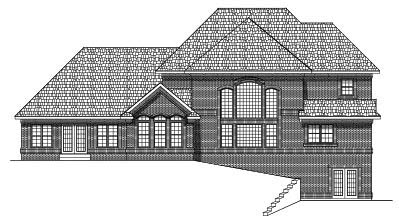 Rear Elevation Plan: 7-538