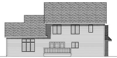 Rear Elevation Plan: 7-539