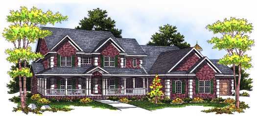 Country Style House Plans Plan: 7-540