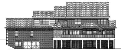 Rear Elevation Plan: 7-540