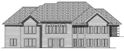 Rear Elevation Plan: 7-541