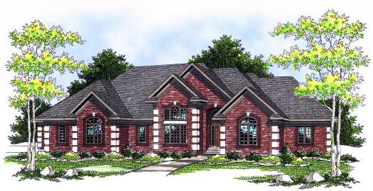 European Style Floor Plans Plan: 7-542