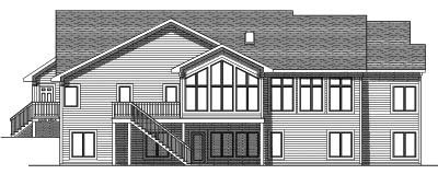 Rear Elevation Plan: 7-545