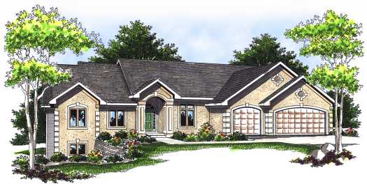 European Style Home Design Plan: 7-546