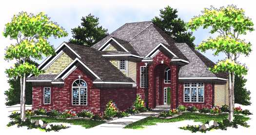 Traditional Style Home Design Plan: 7-547
