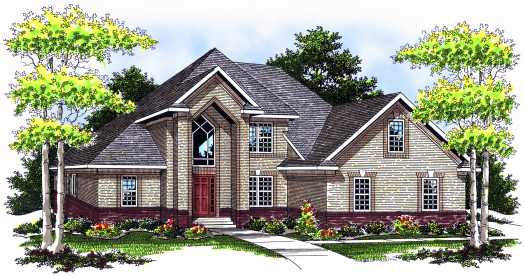 Traditional Style Home Design Plan: 7-548