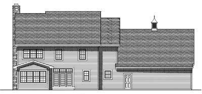 Rear Elevation Plan: 7-549