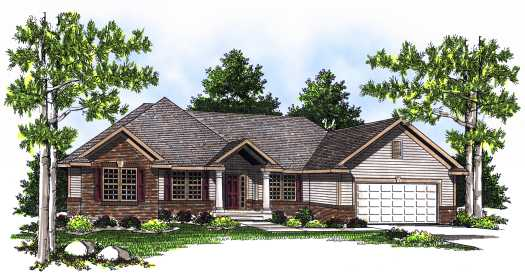 Traditional Style Home Design Plan: 7-550