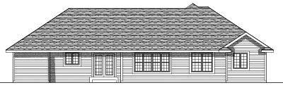 Rear Elevation Plan: 7-550