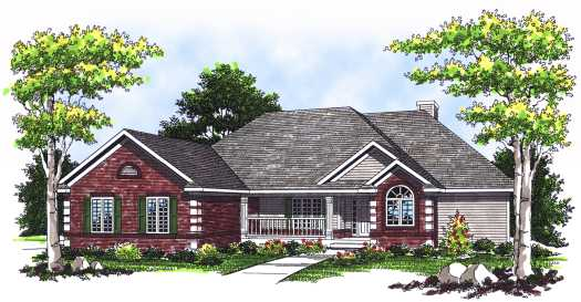 Traditional Style Home Design 7-551