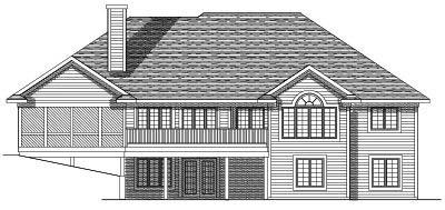 Rear Elevation Plan: 7-551
