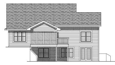 Rear Elevation Plan: 7-552