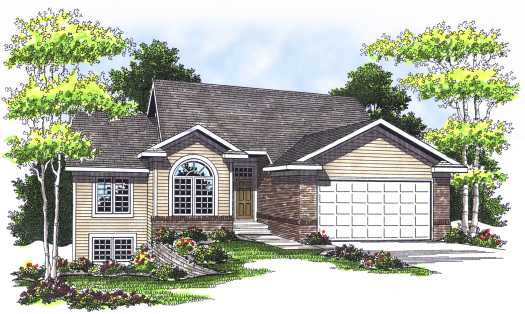 Traditional Style Home Design Plan: 7-553