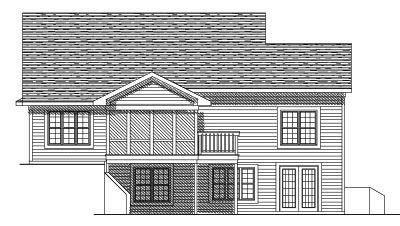 Rear Elevation Plan: 7-553