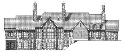 Rear Elevation Plan: 7-554