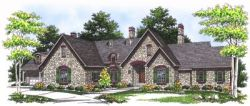 French-Country Style House Plans Plan: 7-554