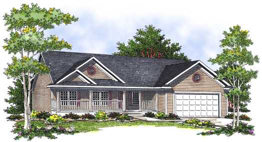 Country Style Floor Plans Plan: 7-556