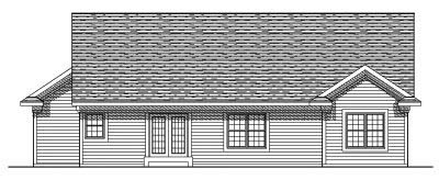Rear Elevation Plan: 7-556