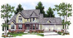 Victorian Style Home Design Plan: 7-560