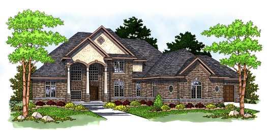 European Style House Plans Plan: 7-561