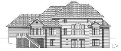 Rear Elevation Plan: 7-561
