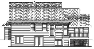 Rear Elevation Plan: 7-562