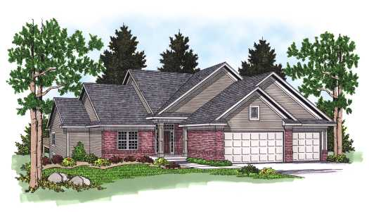 Traditional Style Home Design Plan: 7-563