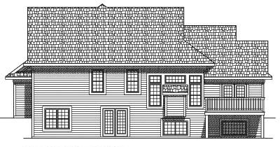 Rear Elevation Plan: 7-563
