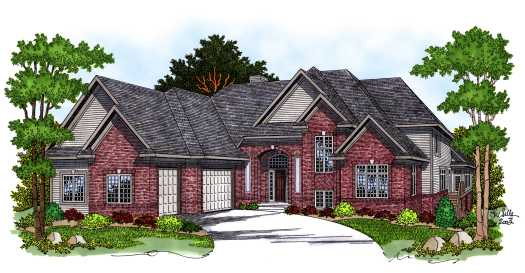 Traditional Style Home Design Plan: 7-564
