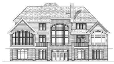 Rear Elevation Plan: 7-564