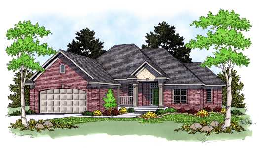 Traditional Style Home Design Plan: 7-565