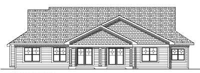 Rear Elevation Plan: 7-566