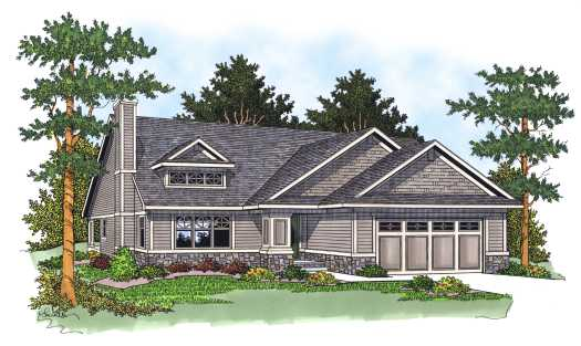 Craftsman Style Home Design Plan: 7-567